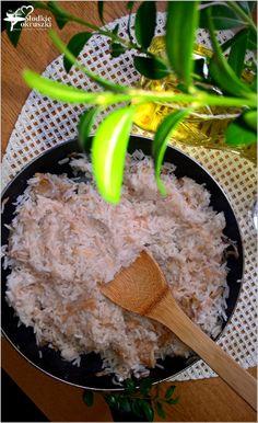 Smażony ryż z jabłkiem i cynamonem