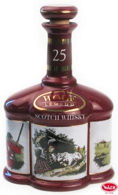 Wolf Legend Scotch Whisky Ceramic Decanter.