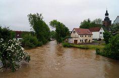 Floods in Bad Berka, Germany, June 2013