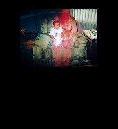 The story behind this photo is that this childs grandfather passed away a couple hours before he was born. The child was visiting his grandmothers house and crawled up on his grandfathers favorite chair. This photo is the result.