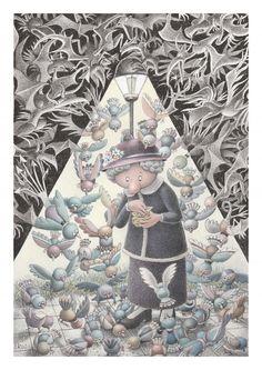Exceptional Illustrations of Izabela Kowalska-Wieczorek Christmas Ornaments, Holiday Decor, Cartoons, Illustrations, Cartoon, Christmas Jewelry, Cartoon Movies, Illustration, Christmas Decorations