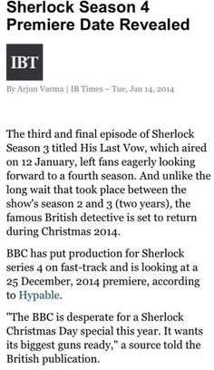 MARK YOUR CALENDARS! APPROXIMATELY 341 DAYS UNTIL SHERLOCK AS OF 18-1-14.