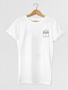 5b15c15c0ff Cute Succulent T-shirt, Tops, Tees, Unisex, Womens, Plants, Aesthetic,  Graphic Tees, White, Cute Clo