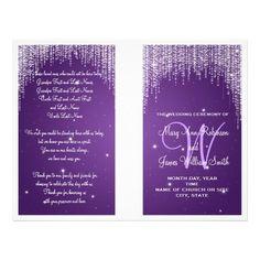 "Wedding Program Night Dazzle Purple 8.5"" X 11"" Flyer"
