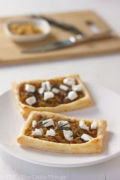 Caramelized Onion Tart with Goat Cheese (or Feta)  Sounds like something I would like to try!
