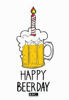 Best Friend Birthday Cards, 21st Birthday Cards, Bday Cards, Handmade Birthday Cards, Man Birthday, Happy Birthday Celebration, Happy Birthday Wishes, Happy Birthday Doodles, Beer Day