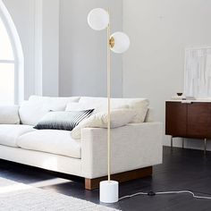 Shop sphere stem floor lamp from west elm. Find a wide selection of furniture and decor options that will suit your tastes, including a variety of sphere stem floor lamp. Modern Floor Lamps, Living Room Flooring, Floor Lamp Bedroom, Room Lamp, Modern Lamp, Lamps Living Room, Floor Lamps Living Room, Floor Lights, West Elm Floor Lamp