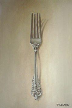 Grand Baroque Sterling Silver Fork by Jeanne Illenye