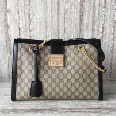 c3efa3be0b8 Gucci Padlock medium GG shoulder bag 479197 Black 2017