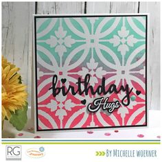 FSJ spotlight: Journey Gel Press #stencil #funstampersjourney #birthday
