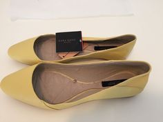 Zara 2014 Yellow Leather Ballet Flat 6 #Zara #BalletFlats