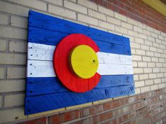 Rustic Colorado Flag Wall Art by MorninWoodCreations on Etsy, $95.00