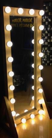 Mirror with lights will be making one of these for my for Floor length vanity mirror