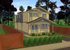 Multi-Family Plan 99957 Elevation