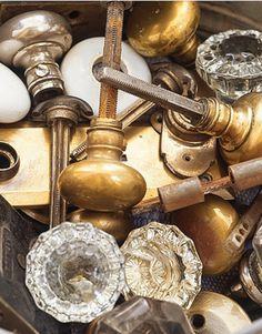 add older charm to a new home . . . add old knobs, drawer pulls, door handles . . . or paint/distress the ones you own to look older