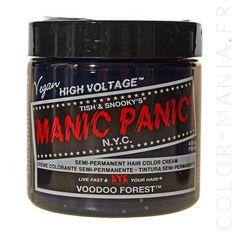 coloration cheveux vert voodoo forest manic panic - Coloration Temporaire Cheveux