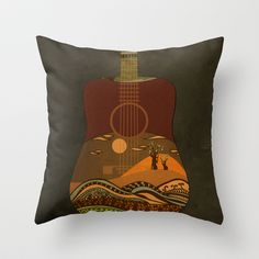 view from my guitar II Throw Pillow by Viviana González - $20.00