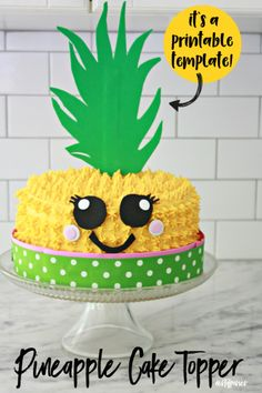 cake Pineapple hands - Pineapple Cake Topper Printable Template - Nest of Posies Yellow Food Coloring, Frosting Tips, Poke Cake Recipes, Velvet Pumpkins, Pineapple Cake, Cupcakes, Cake Tins, Melting Chocolate, Birthday Parties