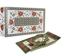 Temp-tations Old World Mitten Bowl & Scarf Tray in Gift Box