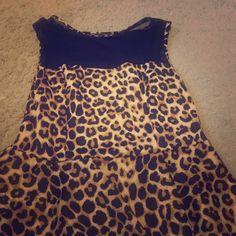 Leopard top with sheer top Leopard top with sheer top Tops Tees - Short Sleeve
