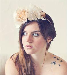 diy floral halo crown