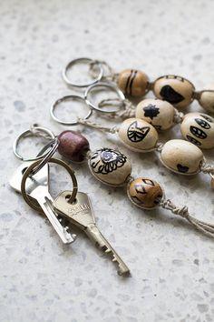 UKKONOOA: Näprän askarteluhaaste - avaimenperät / Recycled Craft Challenge - Key Chains