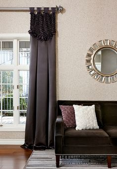 Window treatments ~ *Living room or Bedroom Cool Curtains, Beautiful Curtains, Colorful Curtains, Window Treatments Living Room, Custom Window Treatments, Window Styles, Window Design, Decorating Your Home, Decorating Ideas