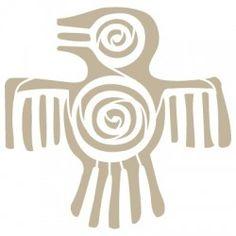 Stencil Aerografia Cultura Maya 002 Pajaro