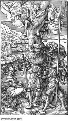 Urs Graf Ein Landsknecht, ein Reislaufer und eine Prostituierte mit dem Laudernden Tod im Baum 1524
