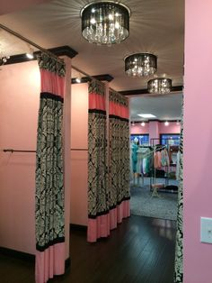 dressing rooms but maybe in aqua or purple?