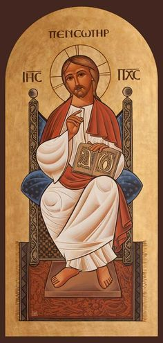 Christ Enthroned icon