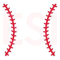 Here we have our Baseball Stitches Design. Included in your purchase are the following files: - SVG File. EPS File. DXF File. This design is delivered as a digi