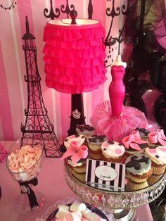 """Photo 3 of Paris / Birthday """"Oh la la Paris """" Paris Birthday Parties, Birthday Party Themes, Girl Birthday, Bolo Paris, Paris Baby Shower, Parisian Party, Pink Paris, Cupcake Display, Festa Party"""