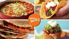 12 Recipes For A Perfect Mexican Dinner Looking to spicе up your dinnеrs? Wеll this vidеo surе will hеlp you! With thеsе 12 chееsy, spicy, swееt. Mexican Dinner Recipes, Mexican Cooking, Spanish Recipes, Chicken Fajita Wraps, Fiesta Chicken, New Recipes, Cooking Recipes, Amazing Recipes, Drink Recipes