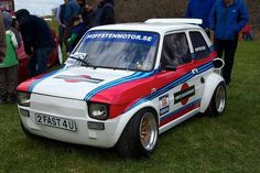Cool Sports Cars, Sports Car Racing, Sport Cars, Cool Cars, Fiat 126, Funny Looking Cars, Audi 80, Fiat Cars, Martini Racing