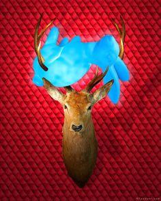Sculpture Painting, Taxidermy, Figurative Art, Antlers, Surrealism, Deer, Contemporary Art, Sculptures, Bunny