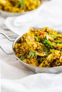 This Turmeric Chicken & Quinoa is a healthy one dish meal the whole family will love. Healthy doesn't get much tastier than this turmeric chicken recipe!