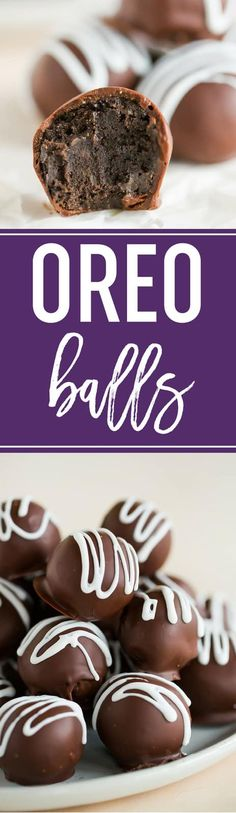 Balls (or Oreo truffles, if we're being fancy) is a total classic and a must for holiday cookie trays! Balls (or Oreo truffles, if we're being fancy) is a total classic and a must for holiday cookie trays! Dessert Party, Oreo Dessert, Holiday Cookie Recipes, Holiday Cookies, Candy Recipes, Dessert Recipes, Holiday Treats, Christmas Recipes, Oreo Cookie Truffles