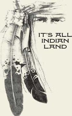 It's all Indian land.Native Americans are the true and original Americans Native American Cherokee, Native American Wisdom, American Spirit, Native American History, Cherokee Indians, American Symbols, Native Indian, Native Art, Apache Indian