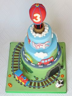 Transport Birthday Cake
