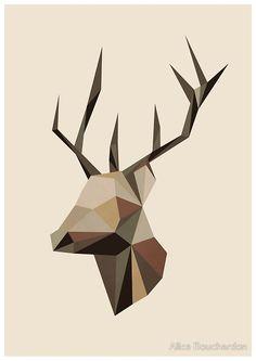 «Geometric Deer» de Alice Bouchardon