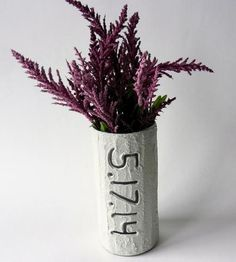 Custom Wedding Date Vase by Carriage Oak Cottage on Scoutmob Shoppe
