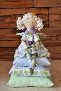 SFLE 20 % Princess on the Pea cloth doll handmade от NilaDolss