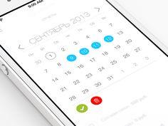 Calendar Ui  by ALEX BENDER