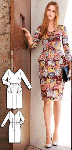 Burda Oct 2016 #104A http://www.burdastyle.com/pattern_store/patterns/classic-dress-102016