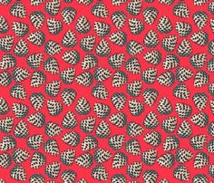 pine cone (cardinal) fabric by anna_lisa_brown on Spoonflower - custom fabric