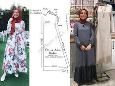 semi circle skirt sewing , how to do, Abaya Pattern, Mode Hijab, Dress Sewing Patterns, Hijab Fashion, Mantel, Dressing, Retro, Womens Fashion, How To Wear
