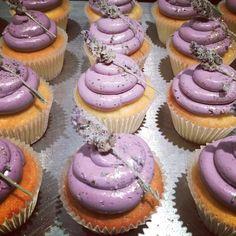 Lemon Lavender Cupcakes with Cassis Buttercream