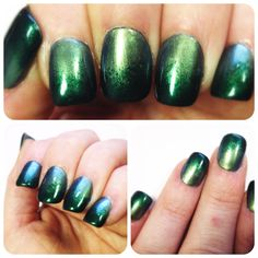 """Step 1 of my St. Patrick's Day mani!  2 Coats of Ulta's """"Jaded"""" with a sponged overlay of Ulta's """"Envy"""" to create a gradient effect!"""