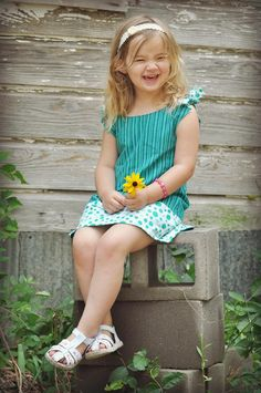 Allison Reversible Girls Dress Pdf Sewing Pattern {we all know I'm a fan of the reversible clothing for kids!}